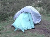 My Crap Tent Being Battered by the Wind