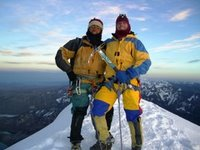 Eliseo & Steve at the Summit of Huayna Potosi