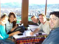 Post Inca Trail Drinks - Vanessa, Silvia, Marceo, Steve & The Dr