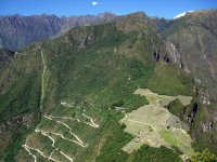 Looking Down On Machu Picchu And The Tourist Road